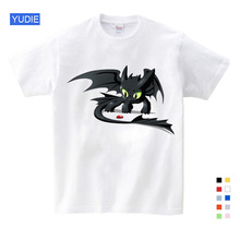 Fashion Toothless Shirt Men Tops Cute How To Train Your Dragon Cartoon T Summer Clothing Cotton Clothes YUDIE