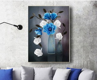 Blue Magnolia DIY 5D Diamond Painting Embroidery Cross Stitch Landscape Mosaic Picture Of Rhinestone Drill Home