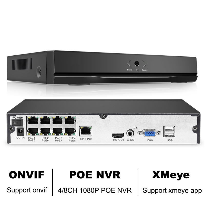 8CH 1080P H.264 NVR Full HD 8 Channel Security CCTV NVR ONVIF P2P Cloud Network Video Recorder For IP Camera System XMeye APP 4ch 8ch 16ch full hd nvr network security surveillance video recorder xmeye h 264 p2p onvif 1080p nvr with hdmi and vga output