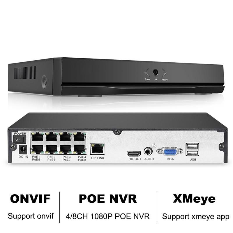 8CH 1080P H.265 NVR Full HD 8 Channel Security CCTV NVR ONVIF P2P Cloud Network Video Recorder For IP Camera System XMeye APP dahua mini smart nvr 1u 1hdd 4ch 8ch 1080p onvif nvr ip camera system network video recorder nvr2104 2108 p2p cloud hdm