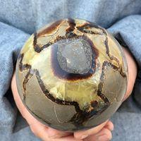 Big Size Natural Dragon Septarian Sphere Quartz Crystal Ball healing