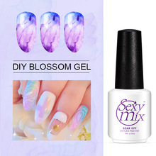 Sexymix Nail Art Design DIY Transparent Blossom Gel Use With Color Gel to Get Blossoming Effect Painting Gel Lacquer Nail Glue