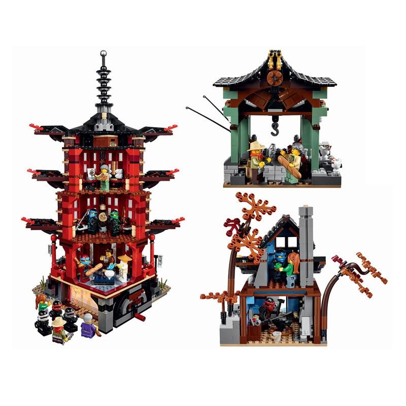 2150 قطعة 10427 من Stiix معبد Airjitzu Ninjagoe الرعد المبارز بناء كتل الطوب اللعب 70751-في حواجز من الألعاب والهوايات على  مجموعة 2