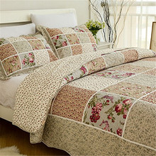 fadfay 100 cotton queen size bed sets vintage floral patchwork quilted bedspread cotton bedding comforter
