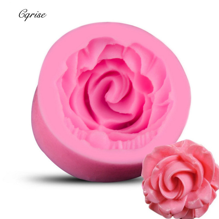 New Rose Flower Silicone Molds Soap Making For Embossed Sugar Arts Flower DIY Wedding Decor Candle Mold Handmade Soap Form