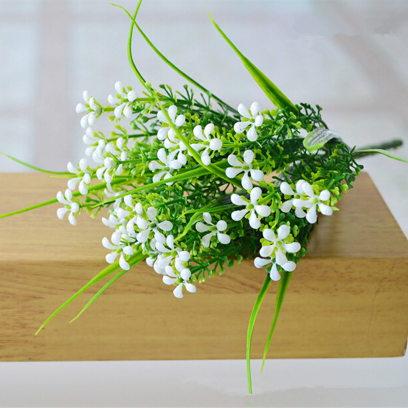 Artificial plants grass fake floral plastic flowers green purple artificial plants grass fake floral plastic flowers green purple white rose yellow eucalyptus plant for office hotel table decor in artificial dried workwithnaturefo