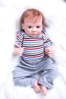 50cm New Soft Body Silicone Reborn Baby Doll Toys Lifelike Newborn Boy Baby Reborn Doll Birthday Present Christmas Gift