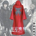 Tokyo Ghoul Cosplay Costume Aogiri Tree Ghoul Cloak Kirishima Toka Uniform Red Cape Halloween Overcoat S-XXL mens clothes