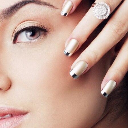 New 24tips Metallic False nails, Artificial nails, Nail Art, Nail ...