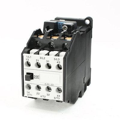 цена на 660V 31.5A 3 Phase 3P 2NO+2NC AC Contactor DIN Rail Mount 220V Coil CJX22/22