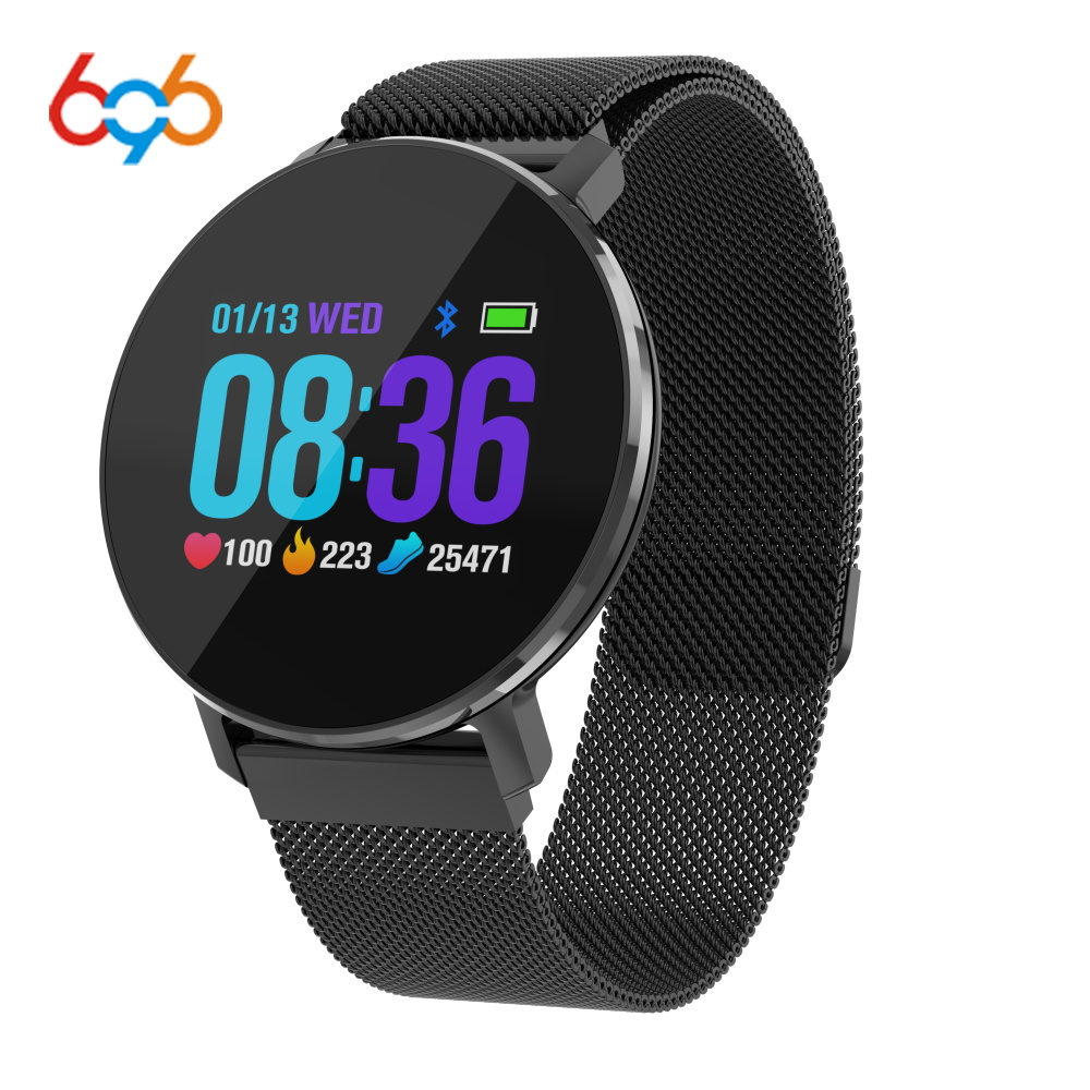 696 2018 T5 Smart Wristwatch Magnetic Metal Strap Sport Fitness Tracker Heart Rate Monitor Band Message Reminder Smart Bracelet696 2018 T5 Smart Wristwatch Magnetic Metal Strap Sport Fitness Tracker Heart Rate Monitor Band Message Reminder Smart Bracelet