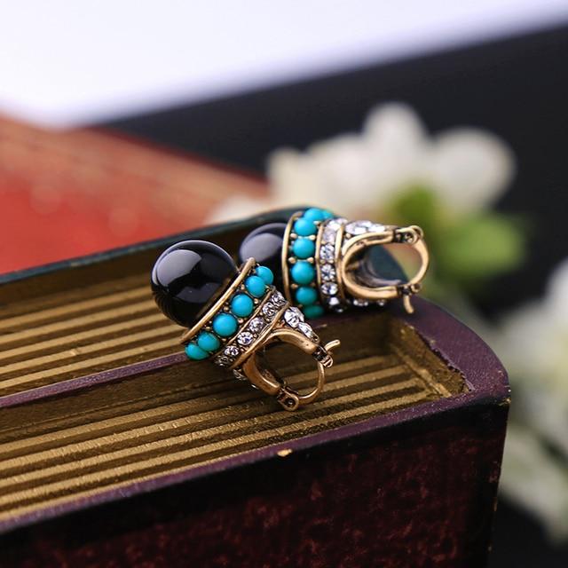 JOOLIM Jewelry Wholesale/ Vintage Boho Style Teardrop Earring Folk Earring Free Shipping Indian Earring Tribal Earring 4