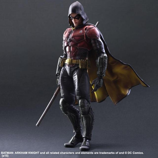Playarts KAI Batman Arkham Knight NO.2 Robin PVC Action Figure Collectible Model Toy 25cm KT3187 playarts kai batman arkham knight pvc action figure collectible model toy 27cm