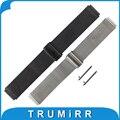 Atualizado milanese pulseira 18mm + pino de liberação rápida para huawei pulso banda de aço inoxidável pulseira de relógio & fit honor s1 pulseira