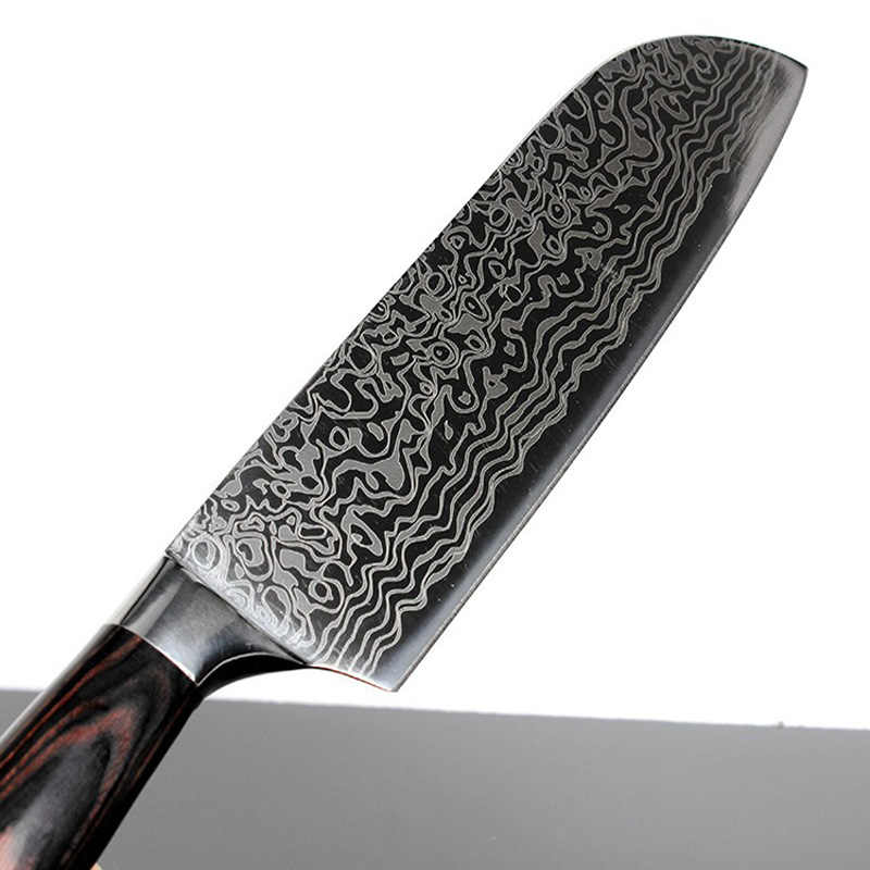 "Very sharp 8""inch chef knife Imitation Japanese Damascus steel Filleting Knife kitchen knives Utility Santoku Cleaver gift Knife"