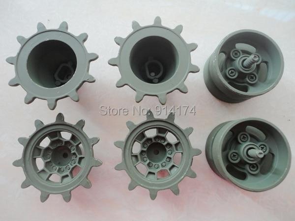 6 pz set henglong 3889 3889-1 serbatoio 1 16 RC parti di aggiornamento del  metallo ruote motrici e induttore aaa661136238