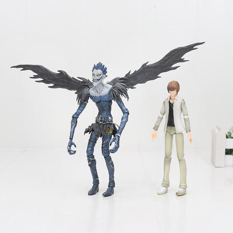 16cm 2pcs lot Death Note Figure Death Note Ryuk Yagami Light Deathnote Figutto 008 009 PVC