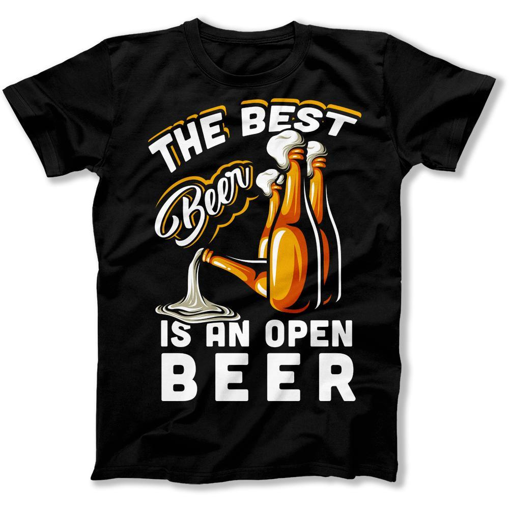 T Shirt Men's Clothing Summer Mens T Shirt The Hottest T-shirt In The World Private Custom T-shirts The Best Beer Is An Open Beer T-shirts