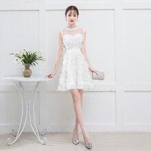 White Color Elegant Mini Dress  Bridemaid Dress  Women Wedding Party Dress bridemaid dress pink color mini dress women wedding party dress