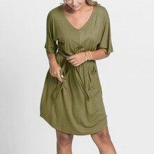 JAYCOSIN Новинка, женское повседневное однотонное платье, летнее женское платье с v-образным вырезом и коротким рукавом, кружевное мини-платье Vestidos, Прямая поставка 702