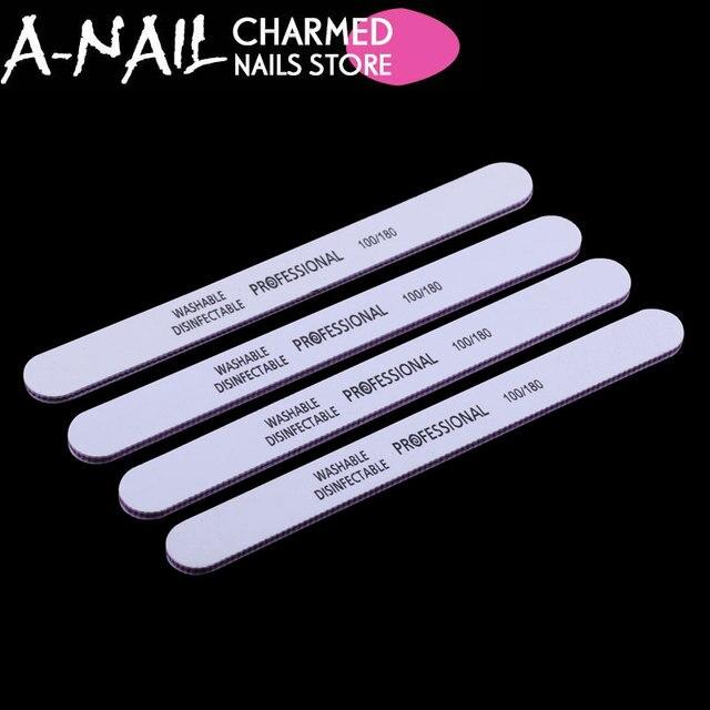 5PCS/lot Profession White Nail File 100/180 New Design Sanding Files ...