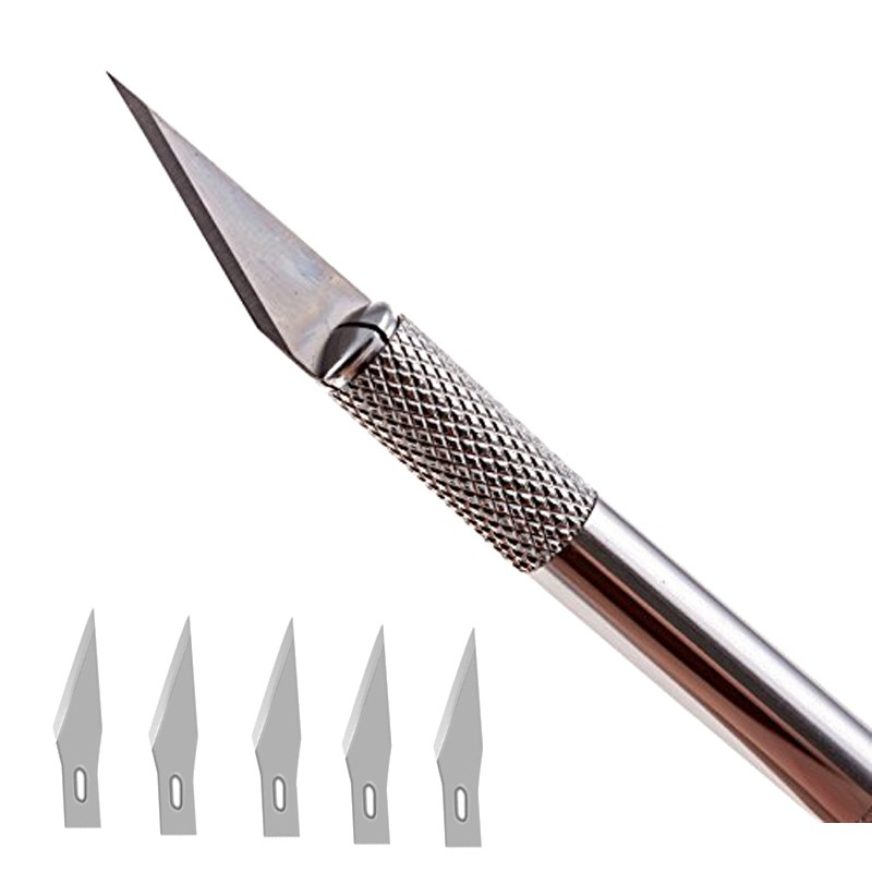 1set/ Wood Paper Cutter Craft Pen Knives Metal Handle Scalpel Blade Knife Engraving DIY Hand Tools 42pcs lot blade and handle 11 and 23 medical scalpel opening repair tools knife for disposable sterile mobile phone beauty diy