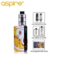 E Cig Aspire Puxos Vape Kit Electronic Cigarette with 3ML Cleito Pro Tank 0.5ohm Coil Max 100W Mod Use 18650/21700/20700 Battery