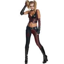Batman Arkham City Secret Wishes Harley Quinn adultos Sexy fiesta de Disfraces cosplay disfraces de halloween para las mujeres Superhéroe personalizada