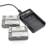 DuraPro 2pcs EN EL3E En El3e Battery LCD USB Charger For Nikon D70 D70S D80 D90