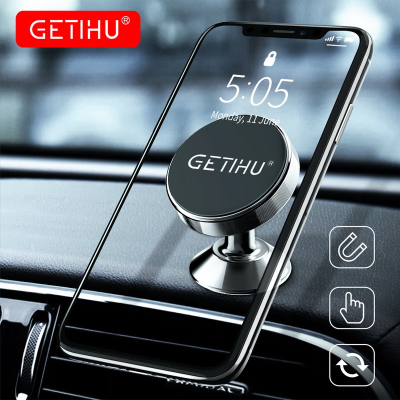 GETIHU Support cellulaire voiture Support pour téléphone magnétique Mobile Support pour téléphone dans la voiture pour iPhone Smartphone Mini aimant Support 360 Support