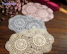 New DIY crochet white table cloth cover Nappe mantel lace cotton tea handmade oval tablecloth Xmas home Christmas wedding decor
