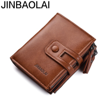 JINBAOLAI Brand wallet Fashion Wallets for Men with Coin Pocket Wallet ID Card Holder Purses Hasp Design Small Men Wallets new men wallets famous brand genuine leather wallet hasp design wallets with coin pocket purse card holder for men carteira