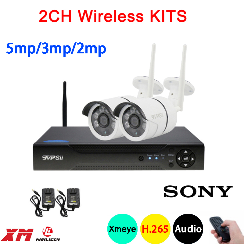 5mp 3mp 2mp Six array Infrared Waterproof H 265 25fps 2CH 2 Channel Audio WIFI Wireless