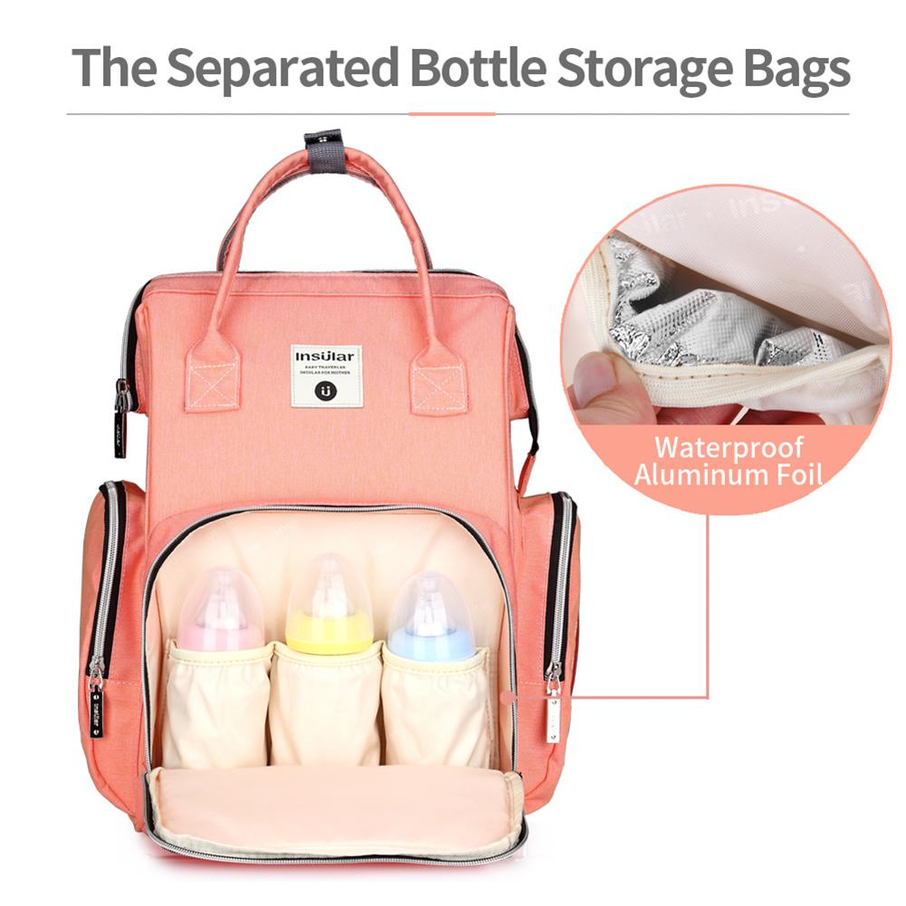 цена на Mummy Maternity Diaper Bag Large Nursing Bag Travel Backpack Stroller Baby Care Bag Nappy Backpack