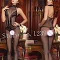 2016 New Sexy erotic lingerie hot Bem-amado Motivo Floral Malha Meias Do Corpo