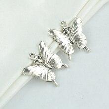 15Pcs metal butterfly Charm vintage Tibetan Silver Pendant Jewelry Pro