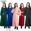 LURRSN Fornecimento de Fábrica Das Senhoras Das Mulheres Vestuário de Moda Muçulmana Abaya Muçulmano Vestidos 2017 Vestidos de Noite Árabe Vestidos de Mangas Compridas