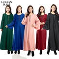 LURRSN Fuente de la Fábrica de Las Mujeres de Las Señoras Ropa De Moda Musulmana Abaya Musulmán Vestidos 2017 vestidos de Noche Árabes Vestidos de Manga Larga