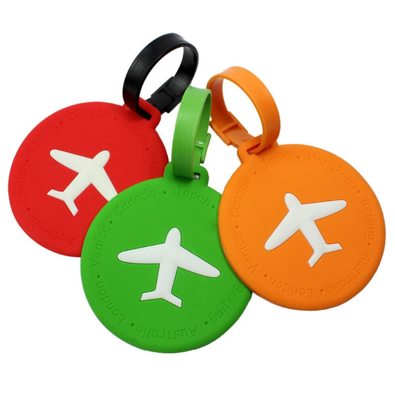 1PC Travel Luggage Tag Square Round Address ID Name Card Suitcase Baggage Label Tags ...