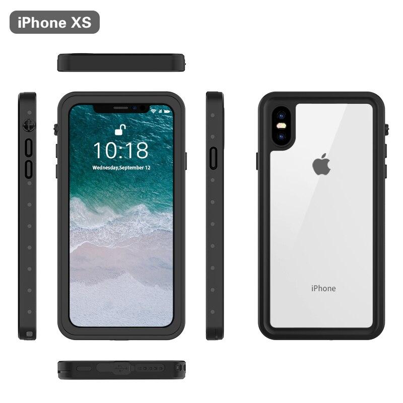 Conelz For iPhone X XS Waterproof Case Snowproof Dustproof Shockproof Full Body Protective Cover