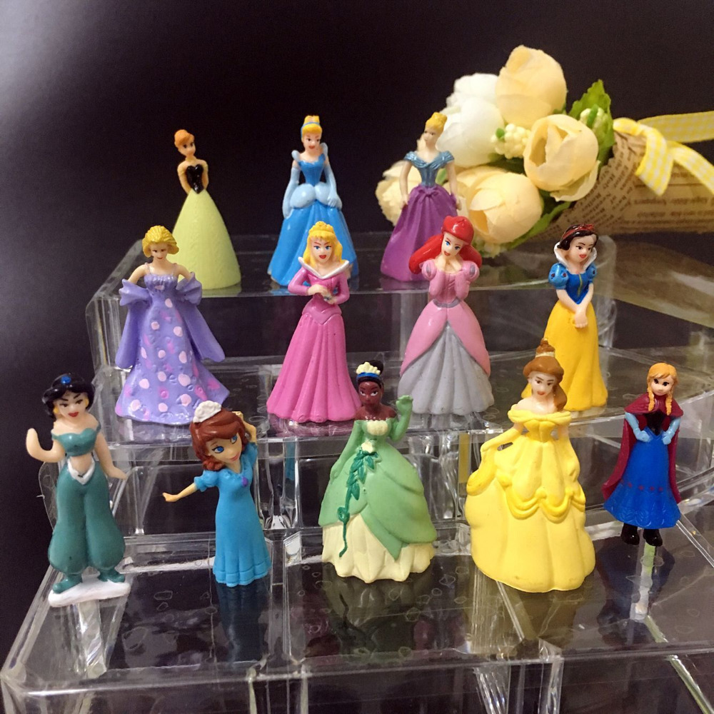 100pcs/lot lovely pvc princess figure anime decorative article gift