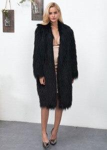 Image 5 - Euro Style Donna Falso Cappotto di Pelliccia di Inverno Nuovo Womans Lungo Faux Cappotti di Pelliccia Caldo Outwear Cappotto di Pelliccia Per La Donna di Strada partito Cappotti di Pelliccia