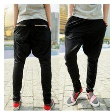 32d92859ec028 Nueva marca de moda casual para hombre flaco Pantalones verano grandes  entrepierna harem Pantalones cremallera hip hop danza Pan.
