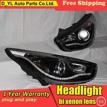 Автомобильный Стайлинг для hyundai IX35 светодиодный фары 2010-2012 фара в сборке поворотные огни DRL Объектив H7 спрятал bi xenon объектива