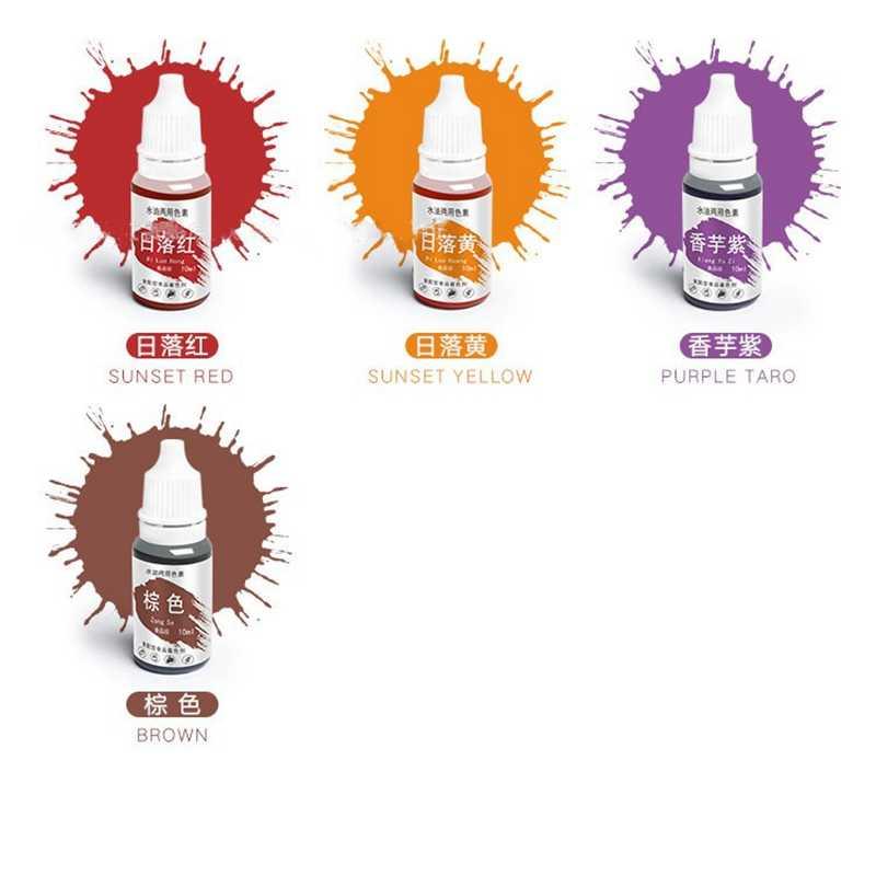 10 мл пигмент ручной работы мыло краситель пигменты Colorant набор инструментов материалы ручной работы мыло База Цвет жидкий пигмент