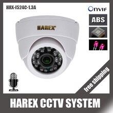 1280*960P 1.3MP 24 шт. ИК светодиоды IP купольная камера с аудио ONVIF Крытый IR-CUT ночного видения подключи и играй