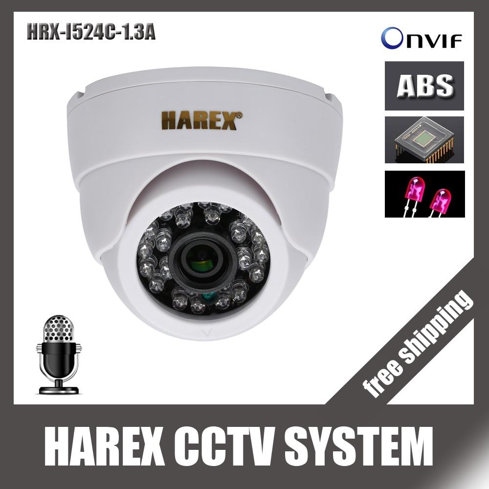 bilder für 1280*960 P 1.3MP 24 stücke IR leds IP Dome Kamera mit audio ONVIF indoor Ir-cut-nachtsicht Stecker und Spielen, freies verschiffen