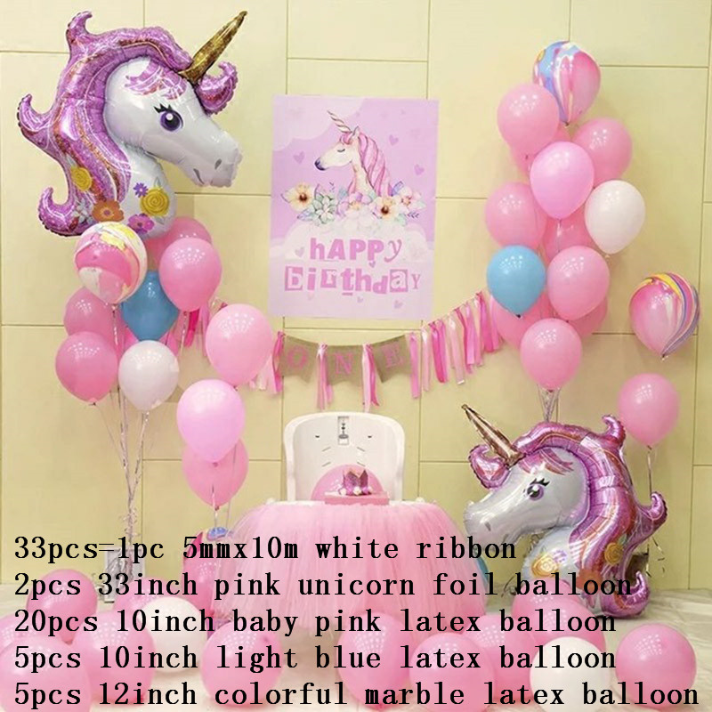 1set Rainbow Foil Helium Balloons 10inch Latex Air Balloons For Children Birthday Party Unicorn Party Anniversary Decoration Consumer Electronics Accessories & Parts