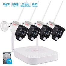 Tonton 1080P Camera An Ninh Không Dây HDD 2TB 2MP 4CH Camera IP NVR IR CUT Quan Sát Ngoài Trời Camera An Ninh IP Video giám Sát Bộ Dụng Cụ