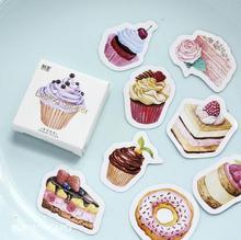 45 pcs/pack My Favorite Sweet Dessert Label Stickers Decorative Stationery Stickers Scrapbooking DIY Diary Album Stick Label